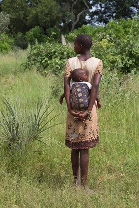 Afrikanerin mit Kind