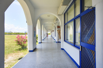 Taitung, Taiwan - June 13, 2015: The most beautiful Taitung Conunty Fong Yuan Elementary School
