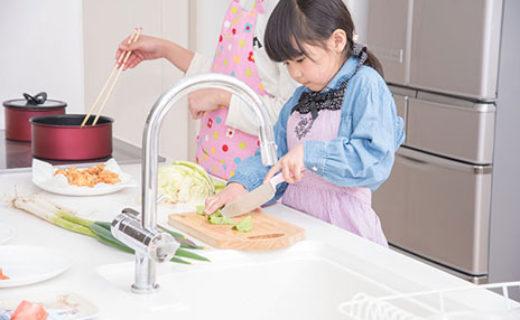 親子で料理