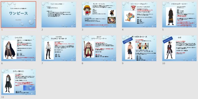 パワポ(Powerpoint)トレーニングTくん作品