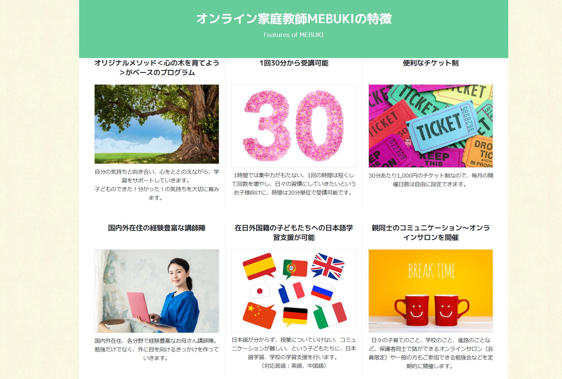 ZOOMを使ったオンライン家庭教師MEBUKI